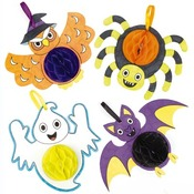 Halloween - inkleur decohangers 5ass