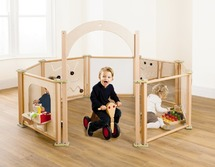 Toddler grondbox - set met doorloopboog