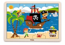 Puzzel - piraten 16st
